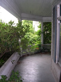 Front porch before painting