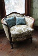 c.1930s chair, upholstered on the back, too in the original fabric