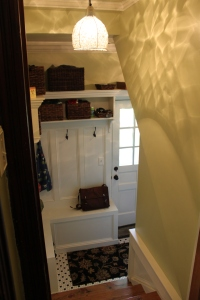 The completed mudroom