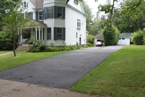 Driveway completely sealed