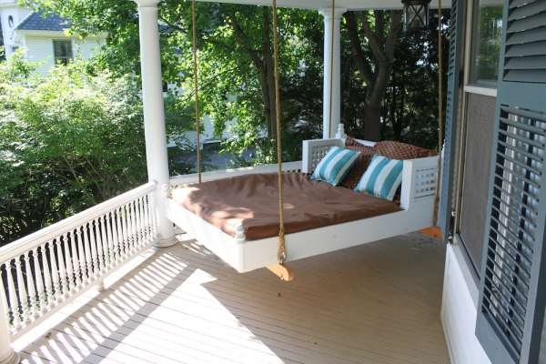 60 west main street blog renovations on a victorian by for Victorian porch swing plans